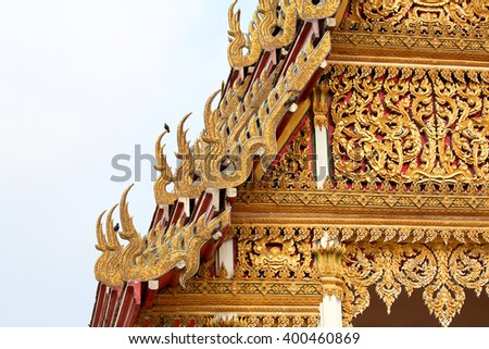 Art of Thai temple
