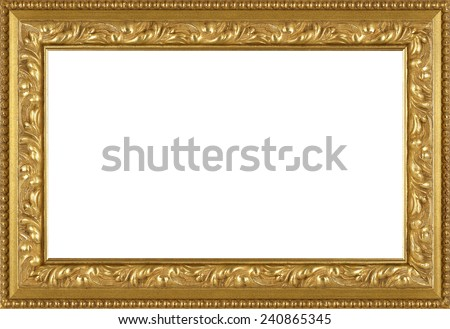 art picture frame golden - stock photo