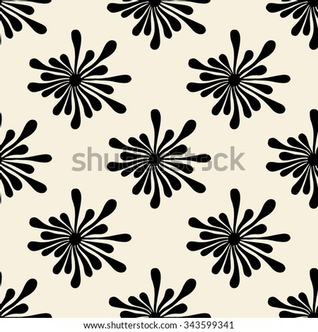 art seamless pattern with spots. Modern repeating texture. Fancy print with monochrome blotch - stock photo