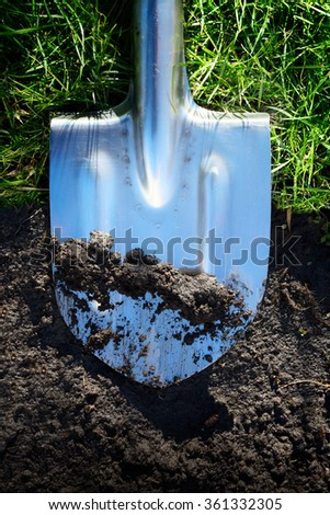 art spring season agriculture farming background - stock photo