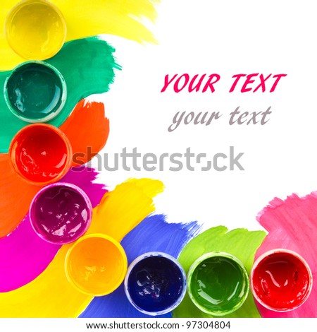 art studio paints, palette, - stock photo