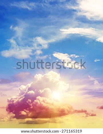 Art summer background. Tropical sunrise - stock photo
