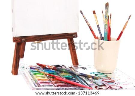 Art supplies - stock photo