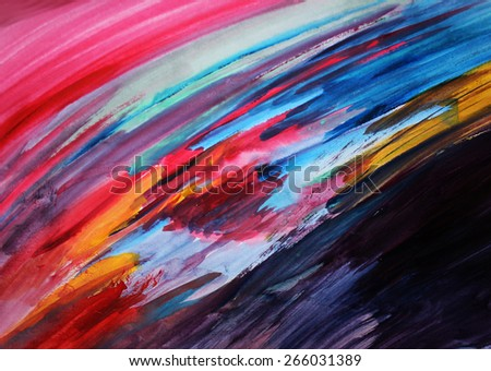 Art therapy or Colorful lines background, Creative artwork, background - stock photo
