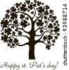Art tree for St. Patrick's Day with four leaf clover. Element for design.  illustration. - stock photo