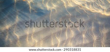 art Tropical beach water background - stock photo