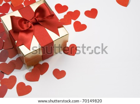 art valentine's greeting card - stock photo