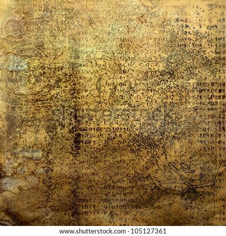 art vintage abstract grunge textured background - stock photo