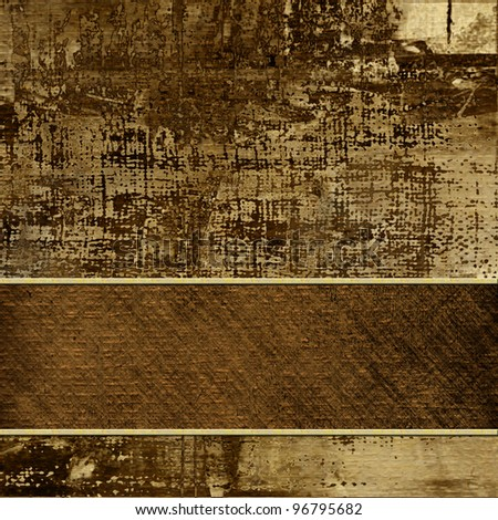 art vintage brown and beige background with place for text - stock photo
