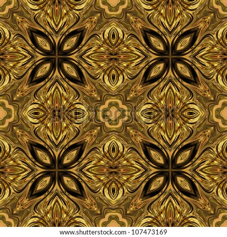 art vintage damask seamless pattern background - stock photo