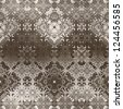 art vintage damask seamless pattern, monochrome silk background in grey brown and white colors - stock vector