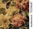 art vintage floral pattern background - stock photo