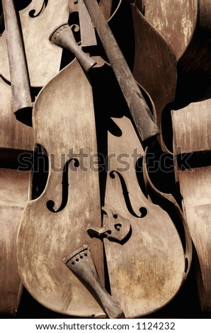 Art violin - stock photo