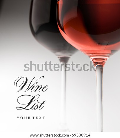 art wineglass - stock photo