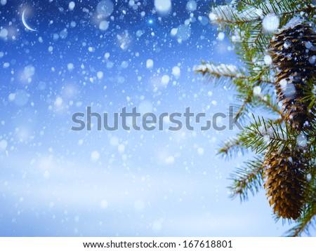 art winter background  - stock photo