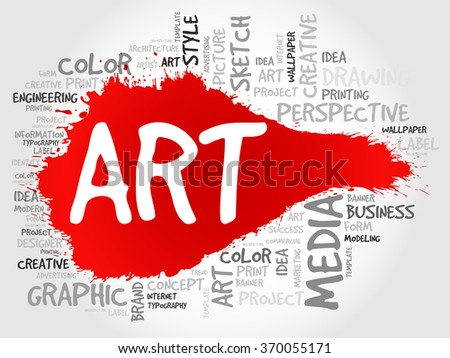 ART word cloud, business concept - stock photo