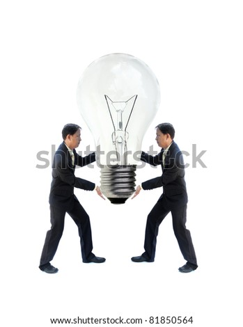 art work of business idea with businessman with abstract picture. - stock photo