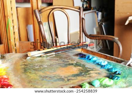 Art workshop - stock photo