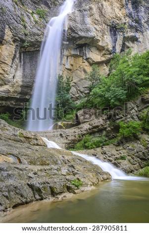 Artazul Waterfall, Navarre (Spain) - stock photo
