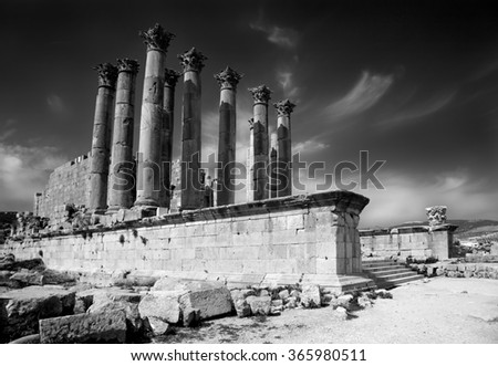 Artemis Temple at Jerash, Jordan