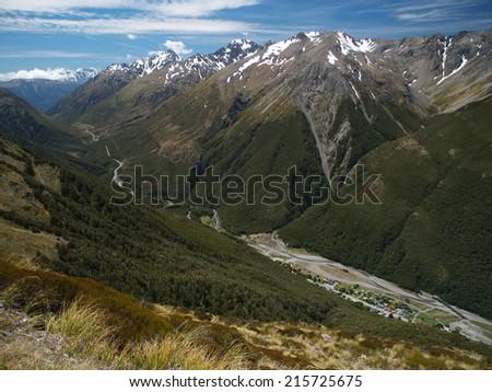 Arthurs Pass, New Zealand - stock photo