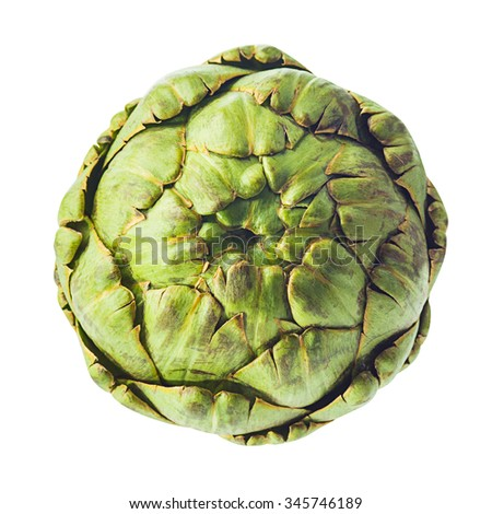 artichoke isolated on white background  - stock photo
