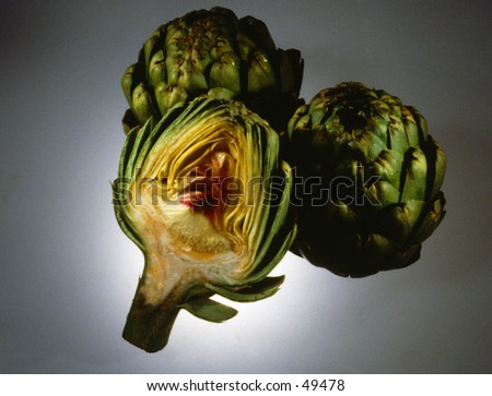 Artichokes - stock photo