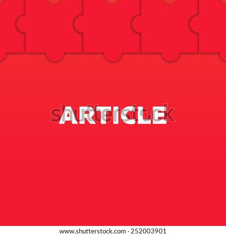 ARTICLE - stock photo