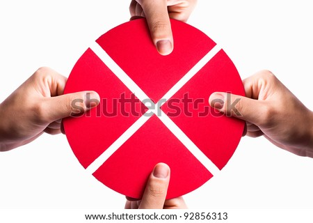 articles of association before the red circle on a white background - stock photo