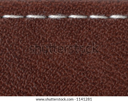 artifical leather with stitch trace background