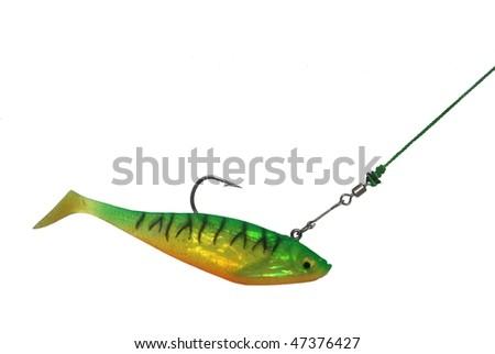 artificial bait - stock photo
