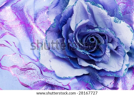 artificial blue flower for decoration - stock photo