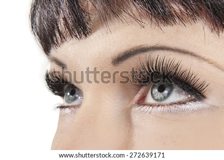 artificial eyelashes - stock photo