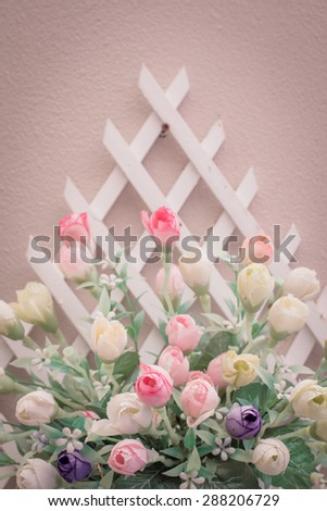 Artificial flowers for home decor. - stock photo