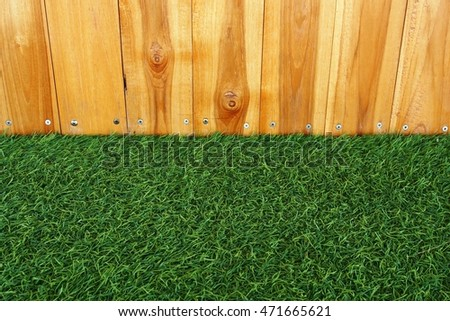 artificial grass and wood wall