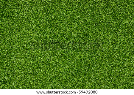 Artificial Grass Field Landscape View - stock photo