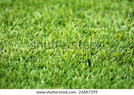 artificial grass football ground - stock photo
