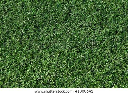 Artificial grass on a football field - stock photo