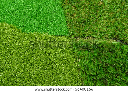 artificial  grass turf - stock photo