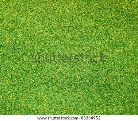 Artificial green grass background - stock photo