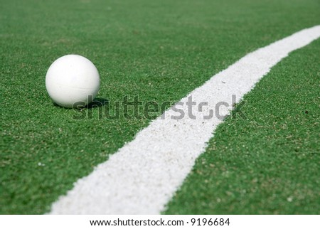 artificial green grass to play hockey on
