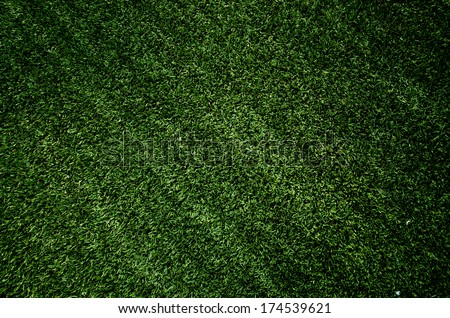 Artificial green turf texture background