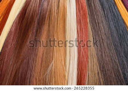 Artificial Hair Used for Production of Wigs and Extensions - stock photo