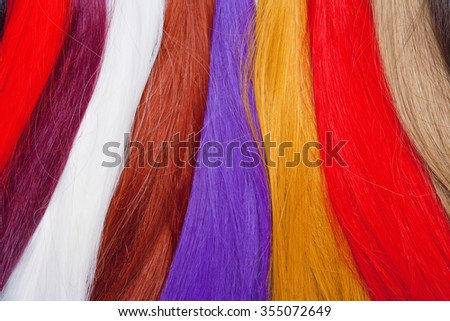 Artificial Hair Used for Production of Wigs and Extensions