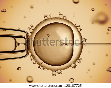 artificial insemination - stock photo