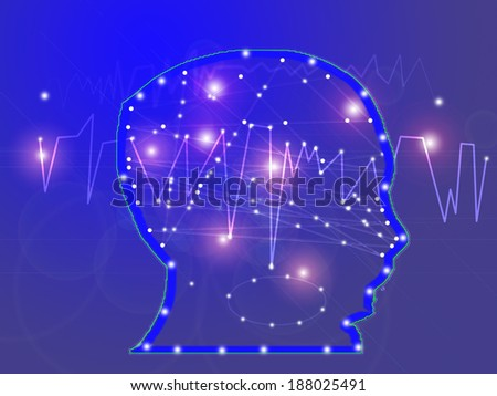 artificial intelligence: abstract and conceptual image - stock photo