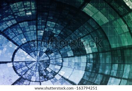 Artificial Intelligence AI Neural Network Logic Art - stock photo