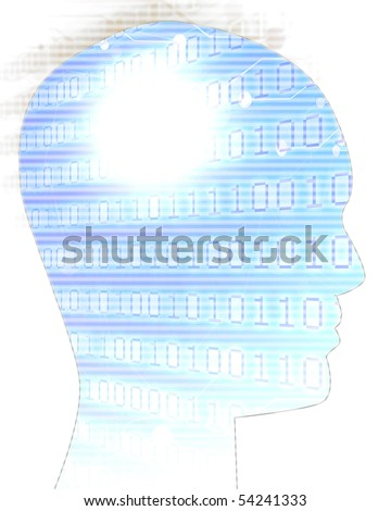 artificial intelligence on a soft background - stock photo