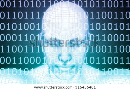 Artificial Intelligence or AI Software Logic as Concept - stock photo