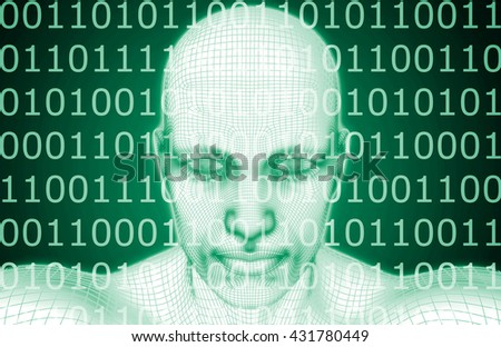 Artificial Intelligence or AI Software Logic as Concept 3d Illustration Render - stock photo